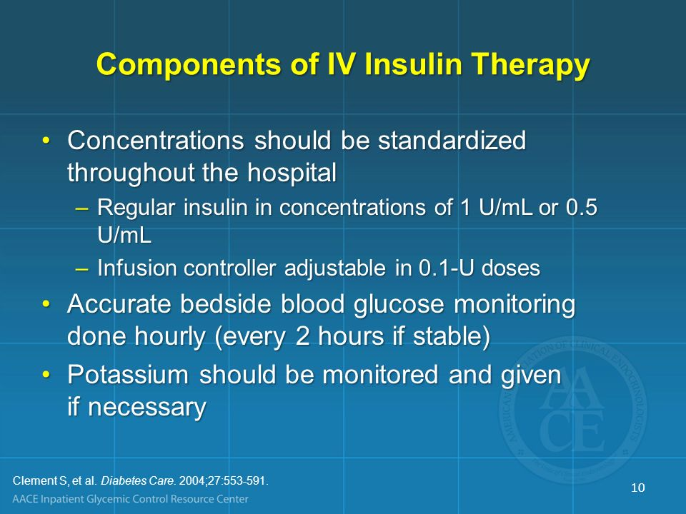 Components of IV Insulin Therapy