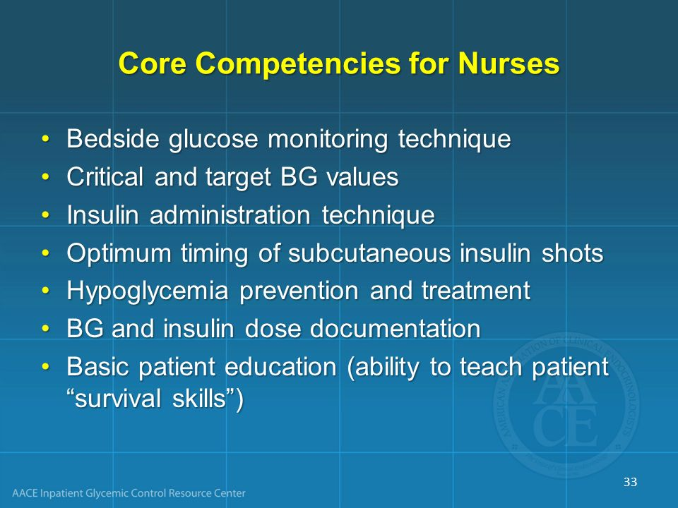 Core Competencies for Nurses