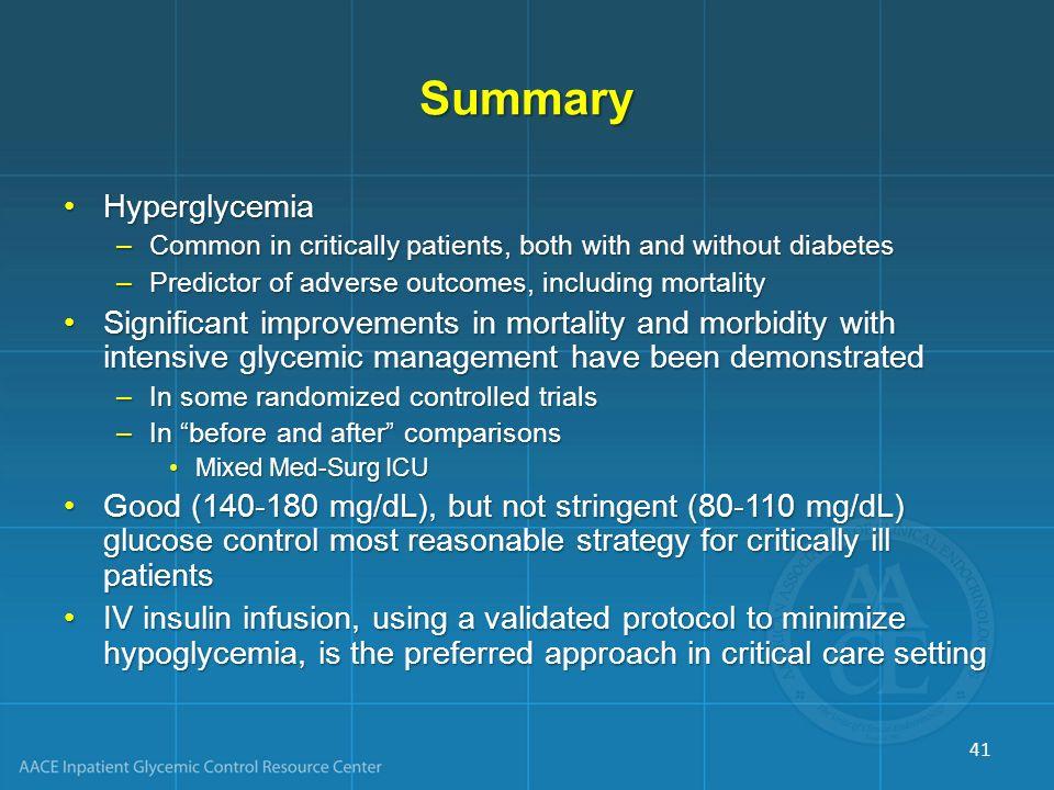 Summary Hyperglycemia