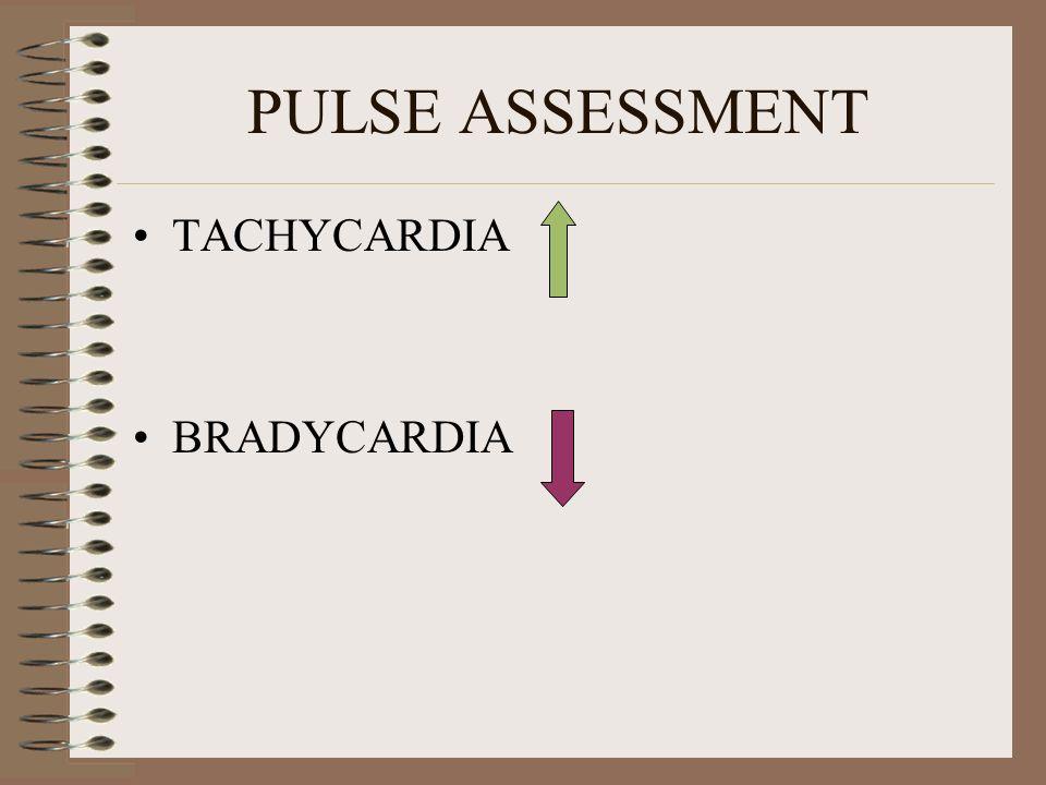 PULSE ASSESSMENT TACHYCARDIA BRADYCARDIA