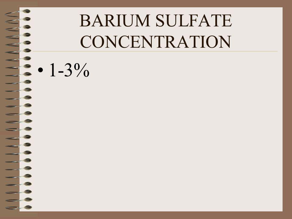 BARIUM SULFATE CONCENTRATION