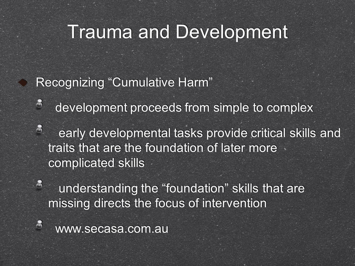 Trauma and Development