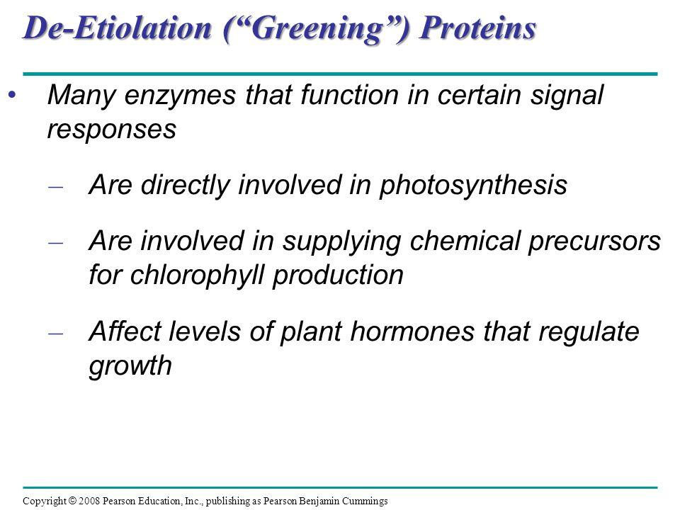 De-Etiolation ( Greening ) Proteins