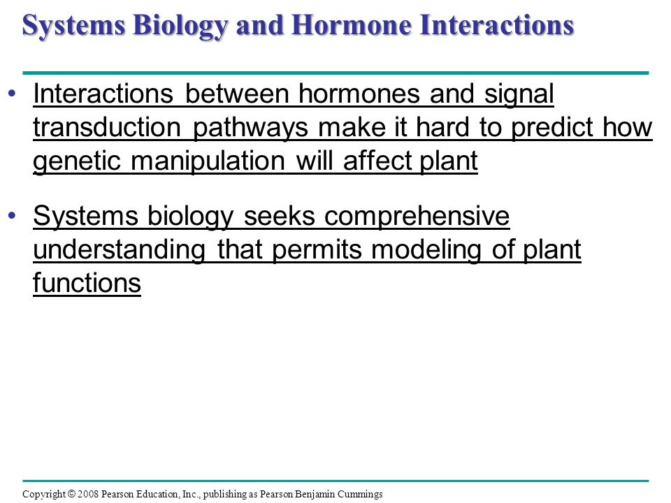 Systems Biology and Hormone Interactions