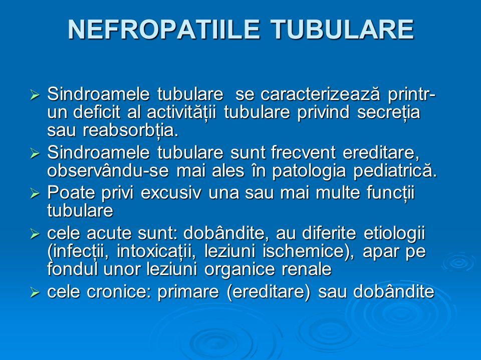 NEFROPATIILE TUBULARE