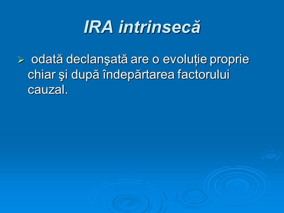 IRA intrinsecă odată declanşată are o evoluţie proprie chiar şi după îndepărtarea factorului cauzal.