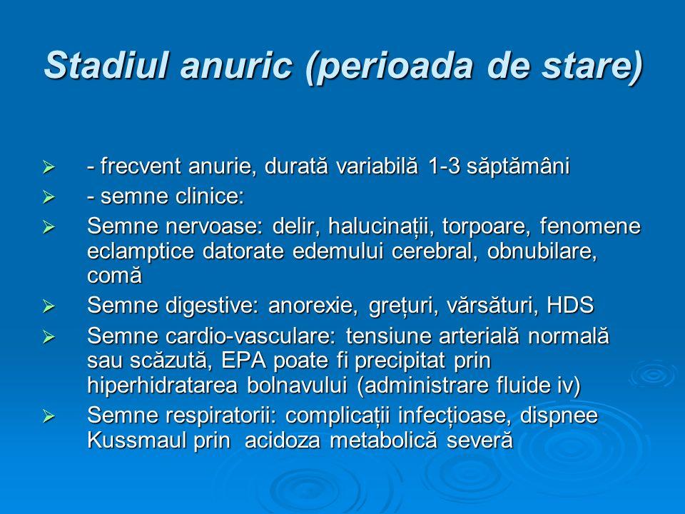 Stadiul anuric (perioada de stare)