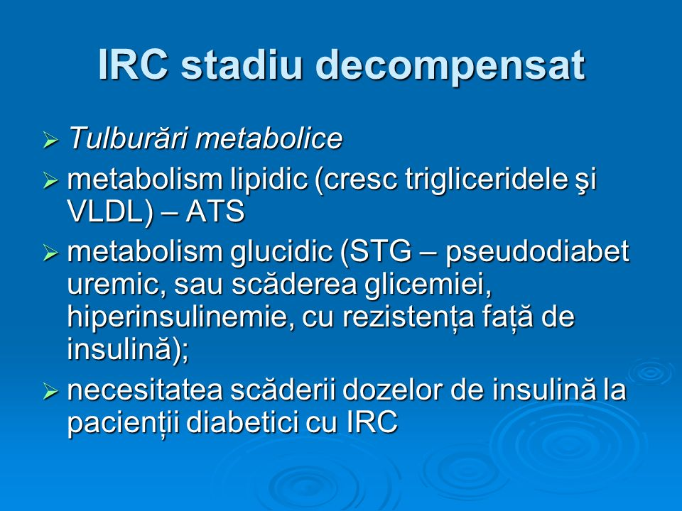 IRC stadiu decompensat