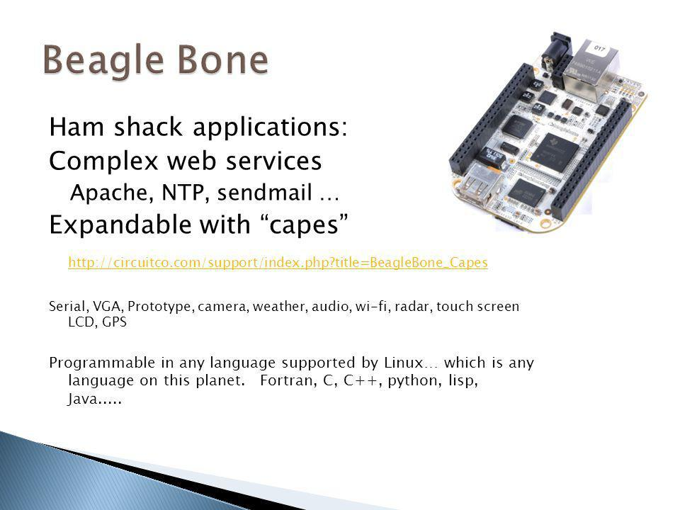 Beagle Bone Ham shack applications: Complex web services