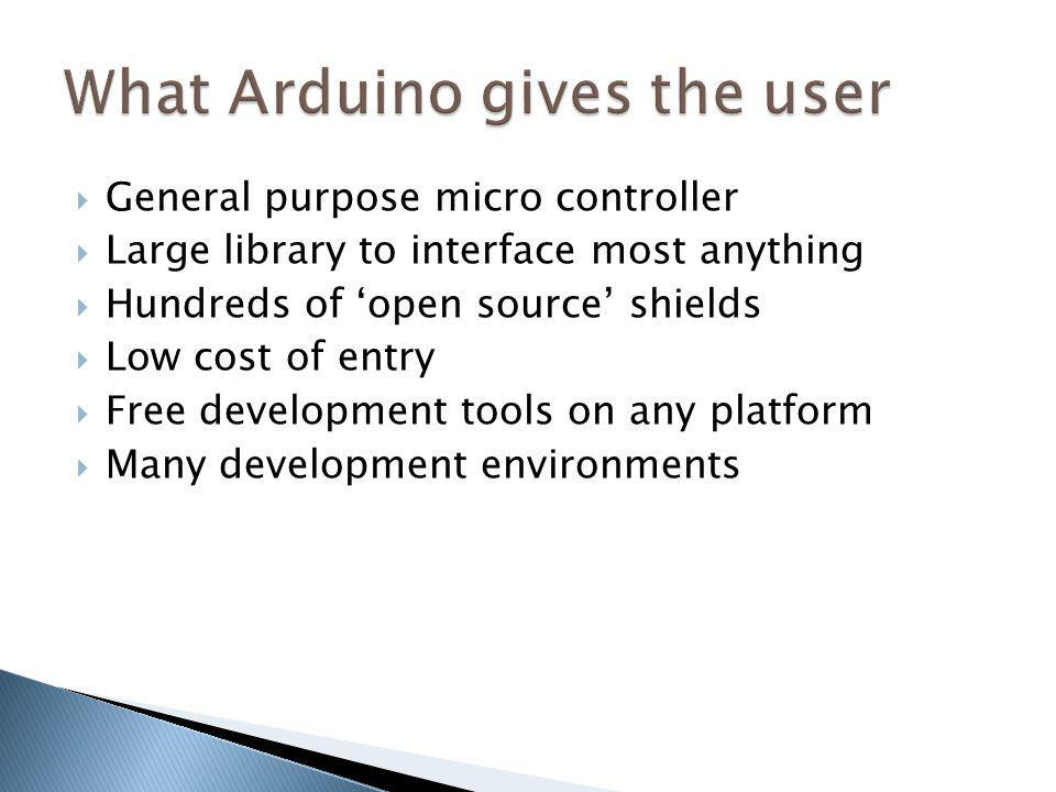 What Arduino gives the user