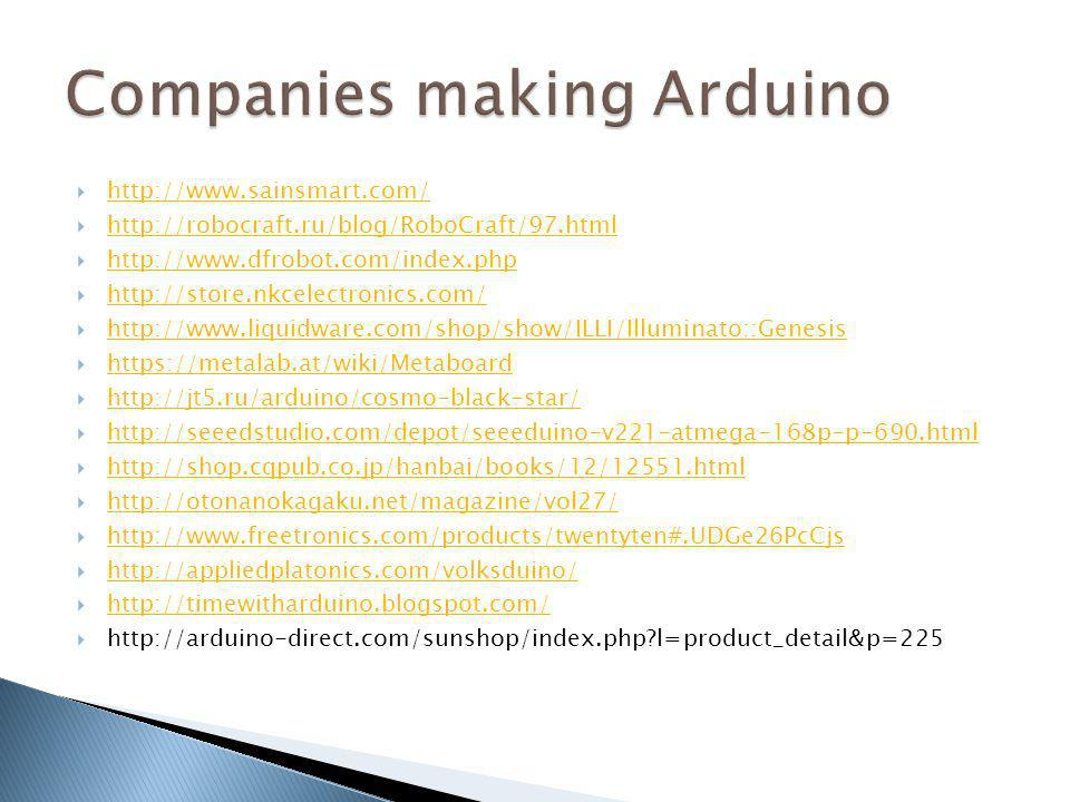 Companies making Arduino