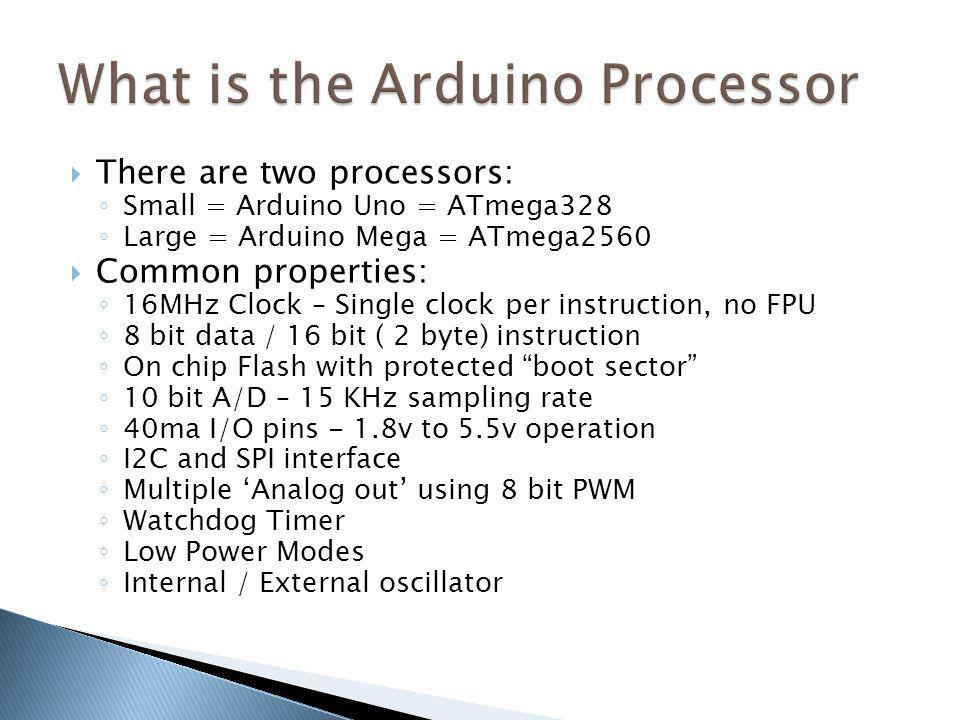 What is the Arduino Processor