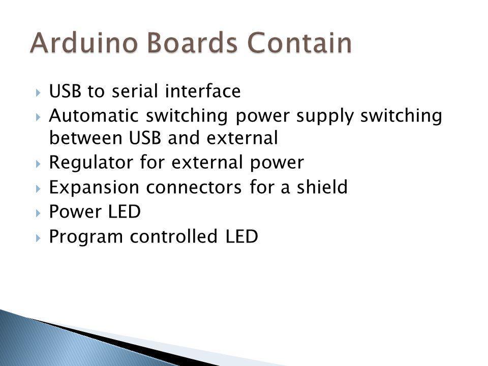 Arduino Boards Contain