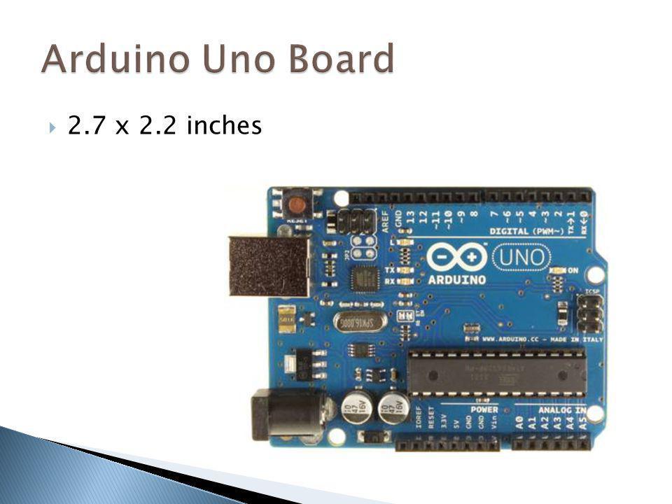 Arduino Uno Board 2.7 x 2.2 inches