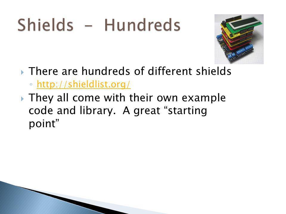 Shields - Hundreds There are hundreds of different shields