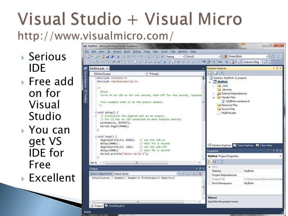 Visual Studio + Visual Micro http://www.visualmicro.com/