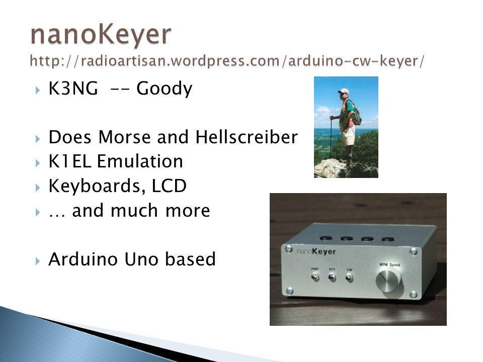 nanoKeyer http://radioartisan.wordpress.com/arduino-cw-keyer/