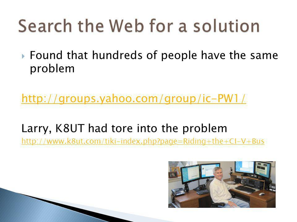 Search the Web for a solution