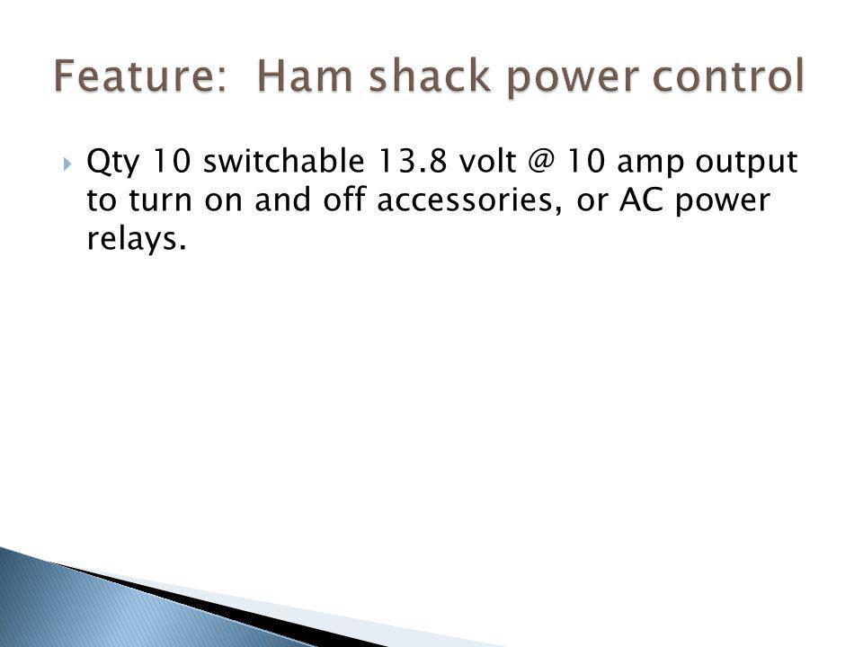 Feature: Ham shack power control