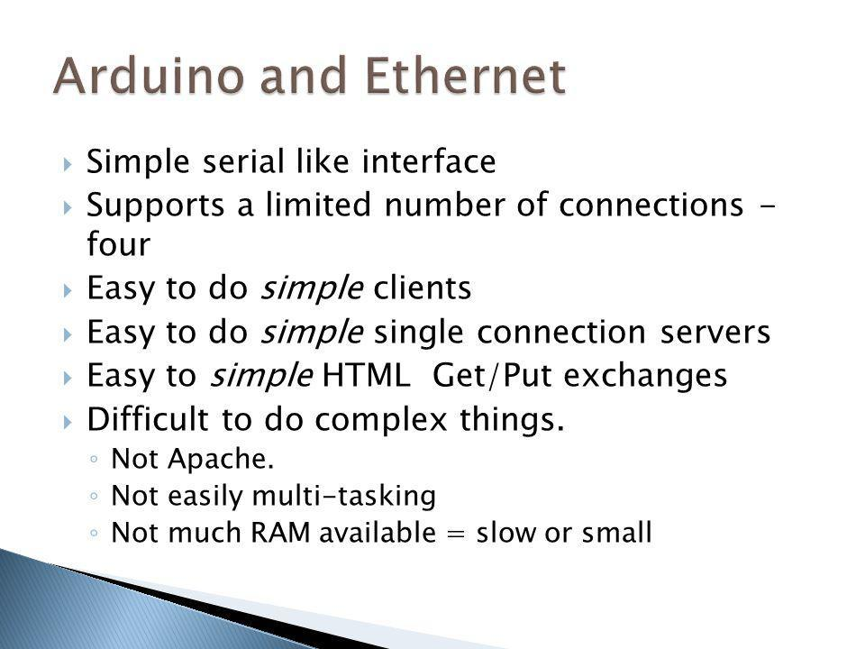 Arduino and Ethernet Simple serial like interface