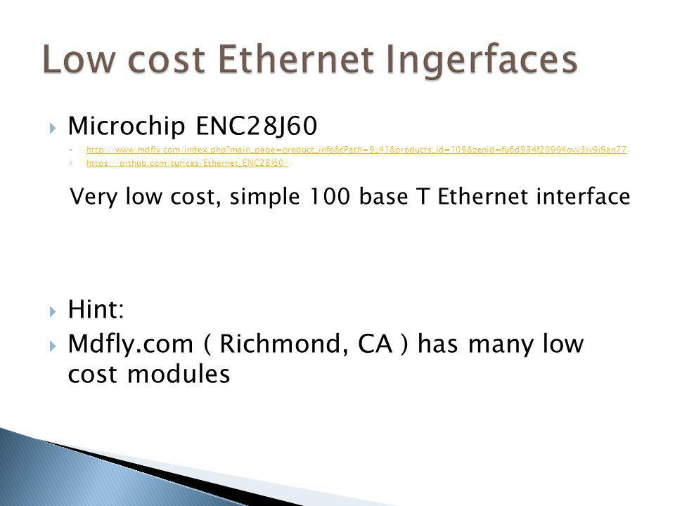 Low cost Ethernet Ingerfaces