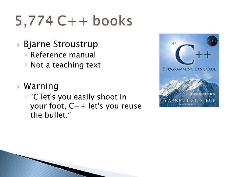5,774 C++ books Bjarne Stroustrup Warning Reference manual