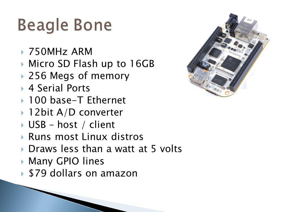 Beagle Bone 750MHz ARM Micro SD Flash up to 16GB 256 Megs of memory
