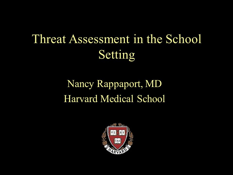Threat Assessment in the School Setting