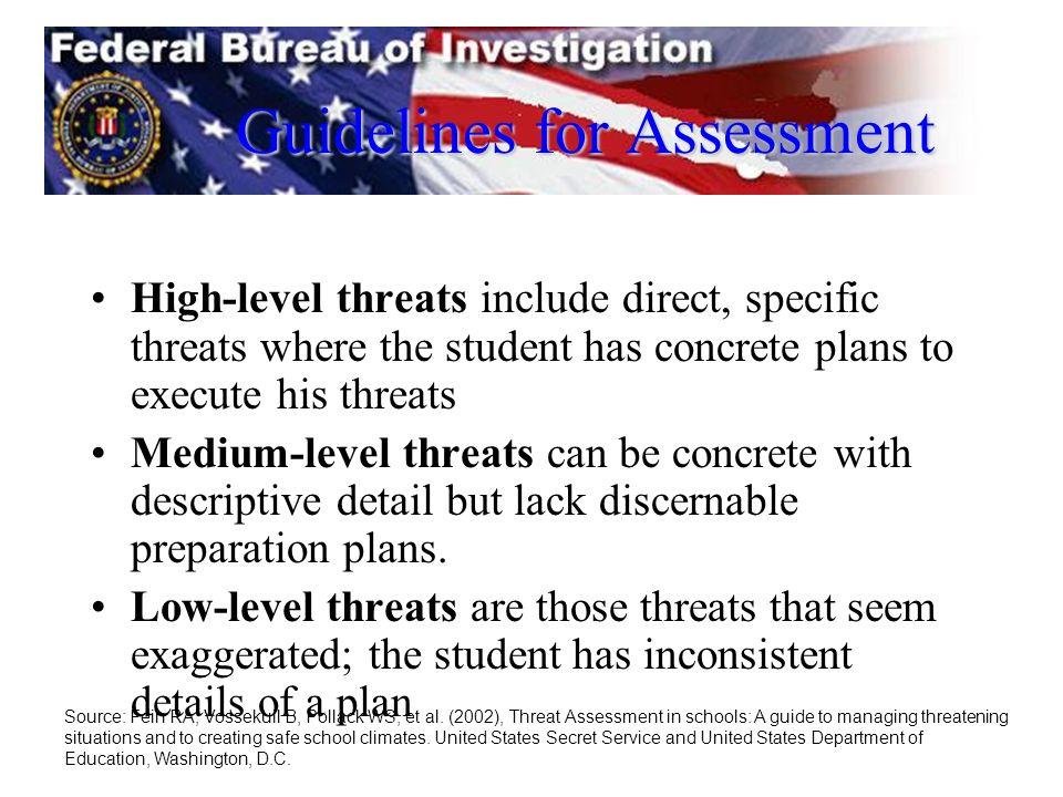 Guidelines for Assessment