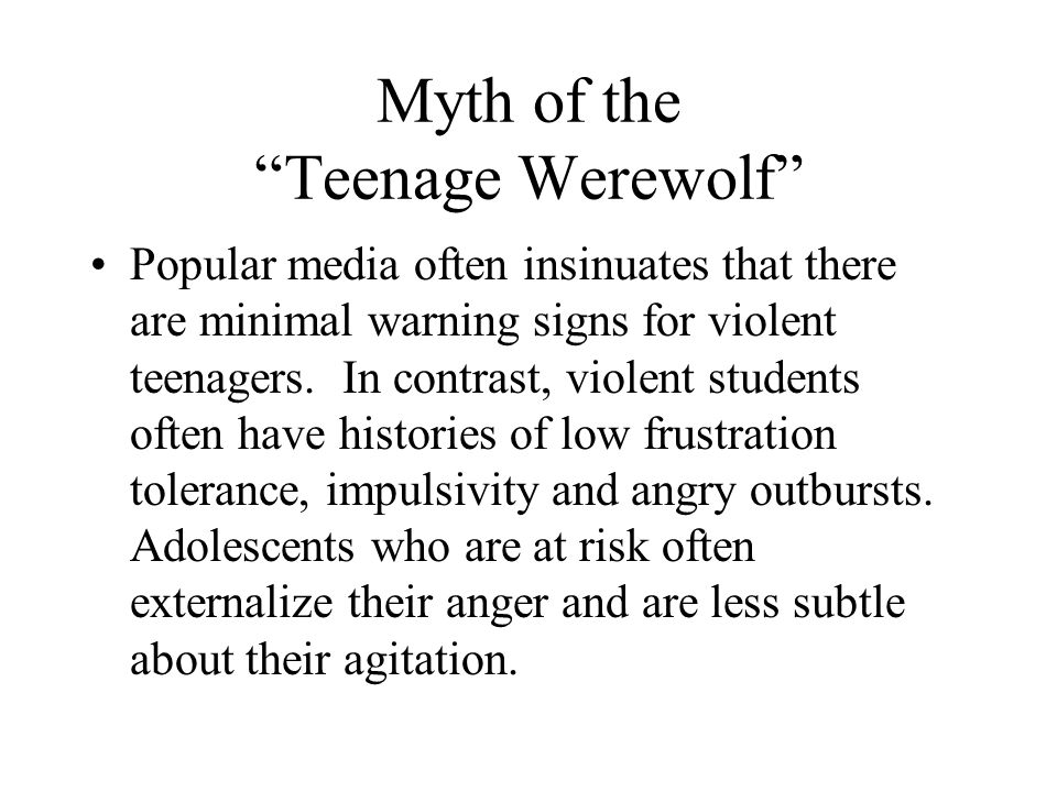 Myth of the Teenage Werewolf