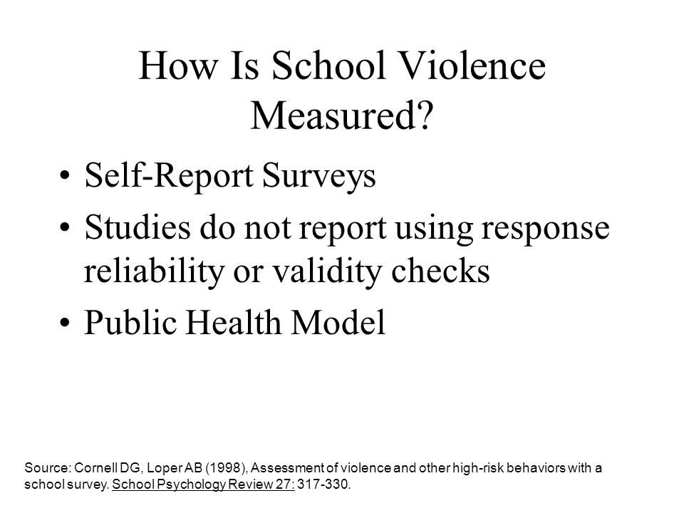 How Is School Violence Measured