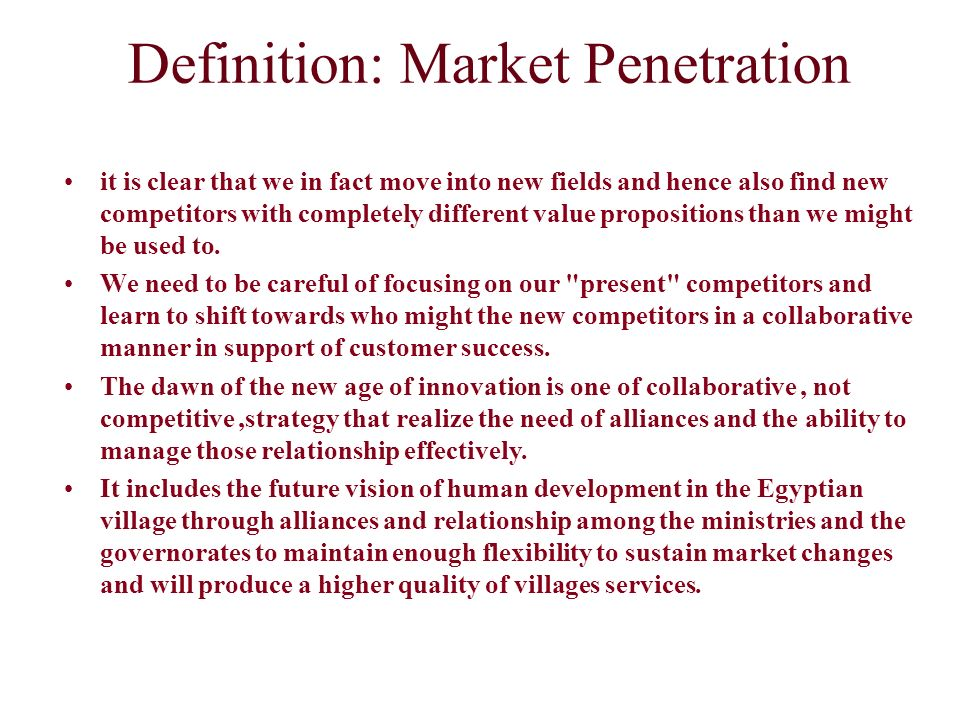 Definition: Market Penetration