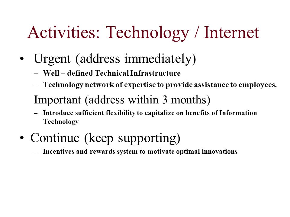 Activities: Technology / Internet