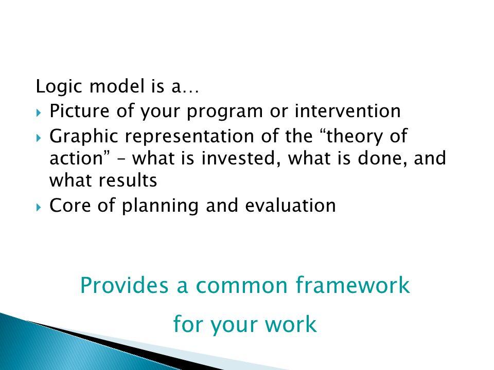 Provides a common framework