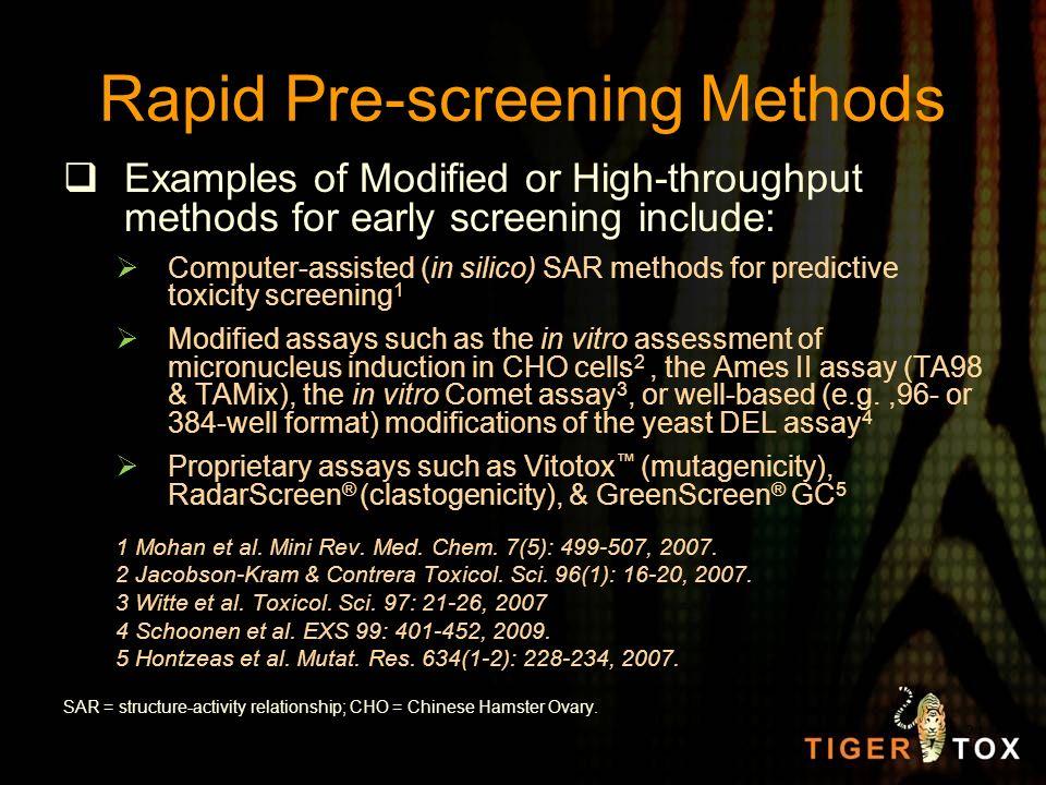 Rapid Pre-screening Methods