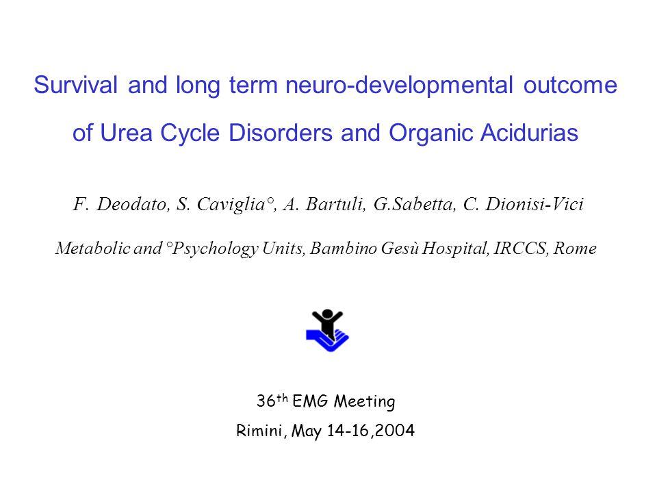 Survival and long term neuro-developmental outcome