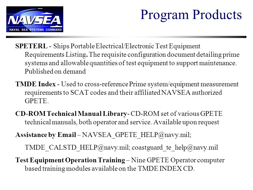 Program Products