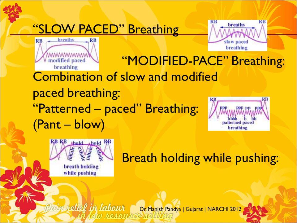 Breath holding while pushing: