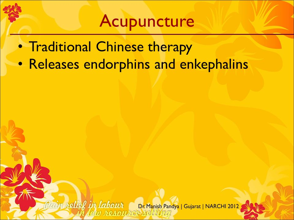 Acupuncture Traditional Chinese therapy