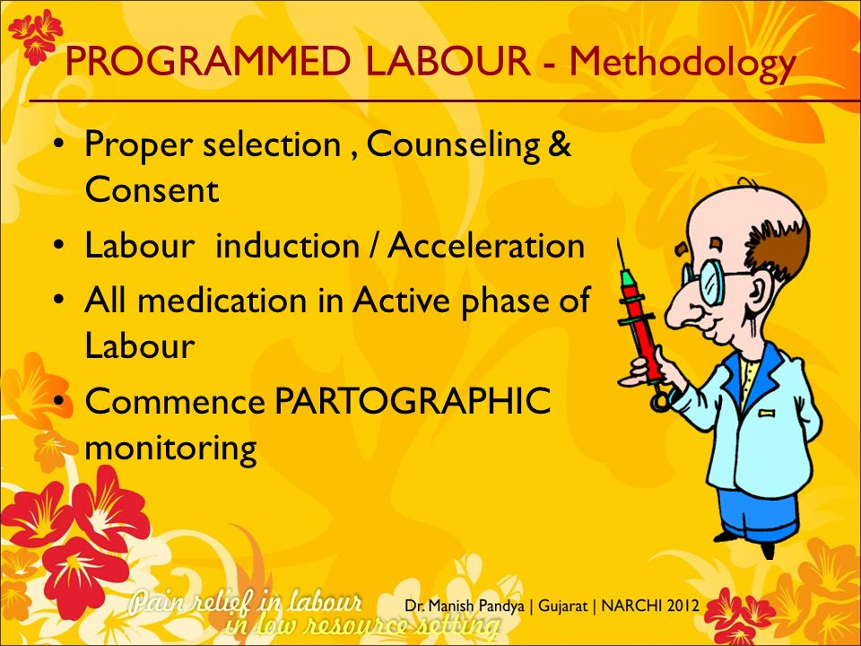 PROGRAMMED LABOUR - Methodology