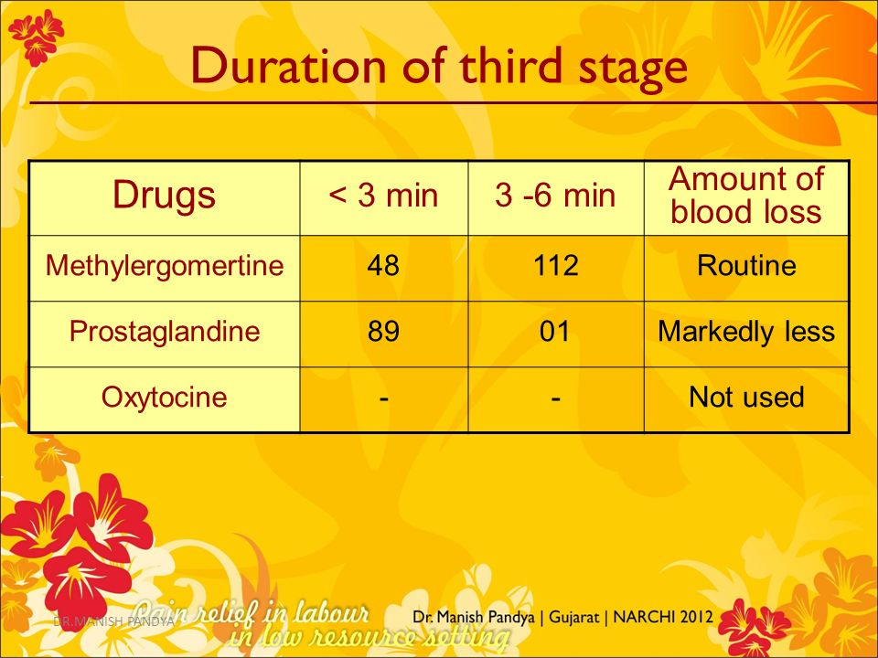 Duration of third stage