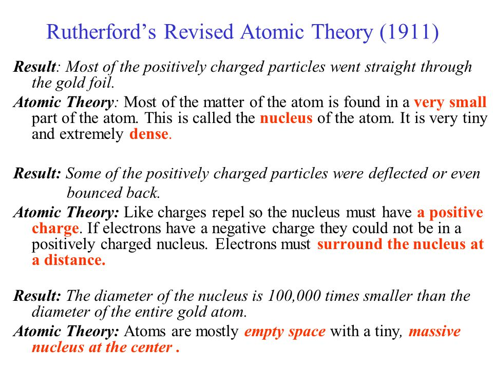 Rutherford's Revised Atomic Theory (1911)