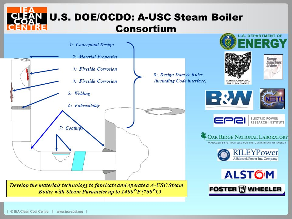 U.S. DOE/OCDO: A-USC Steam Boiler Consortium