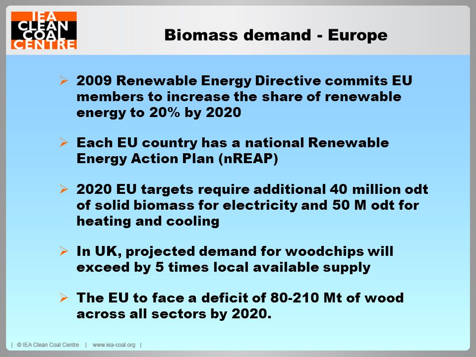 Biomass demand - Europe