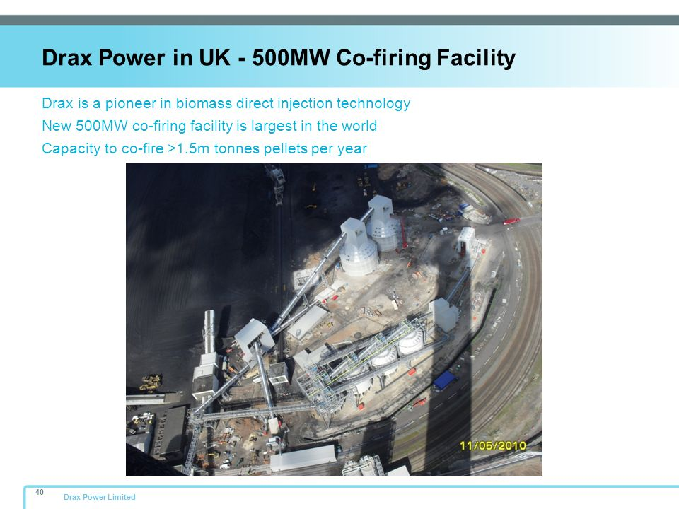Drax Power in UK - 500MW Co-firing Facility