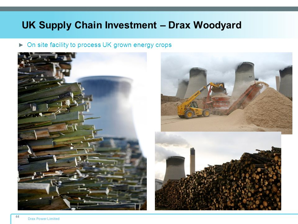 UK Supply Chain Investment – Drax Woodyard