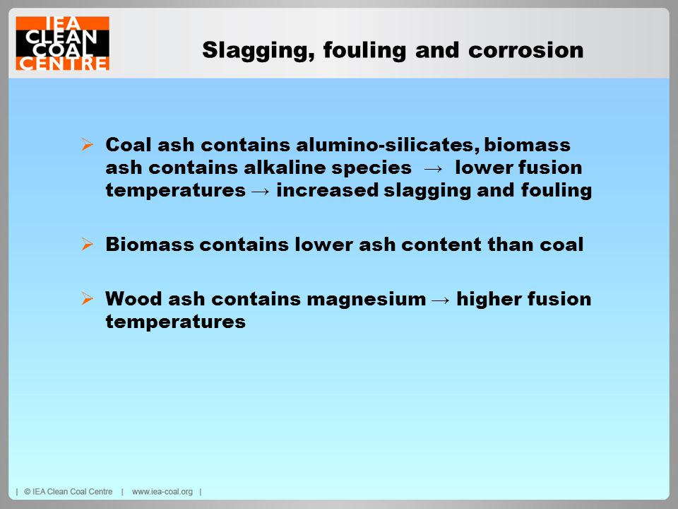 Slagging, fouling and corrosion