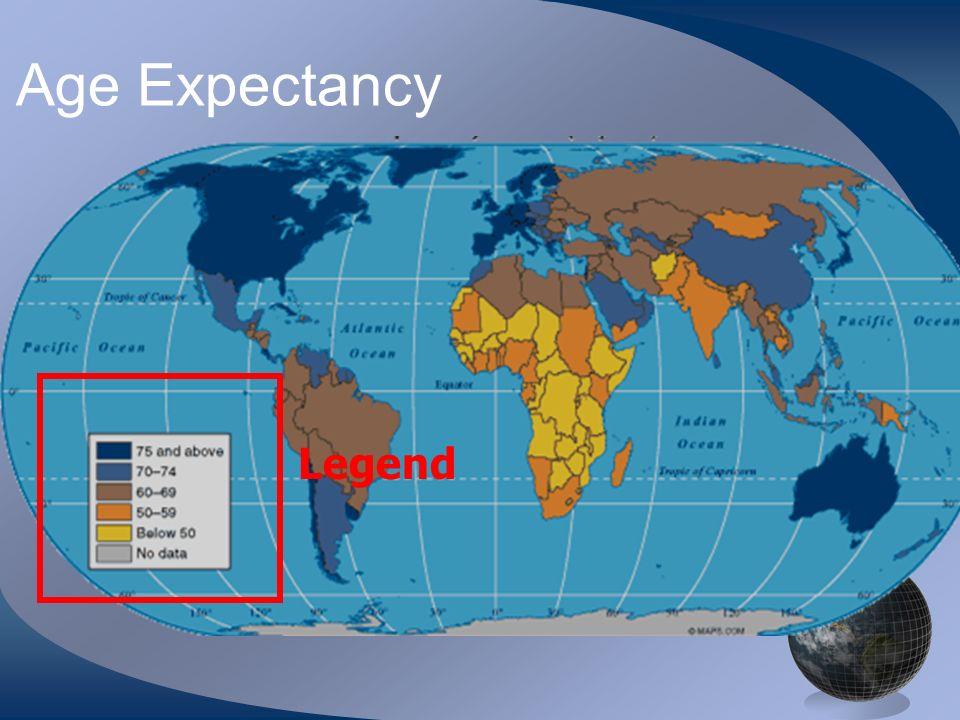Age Expectancy Legend