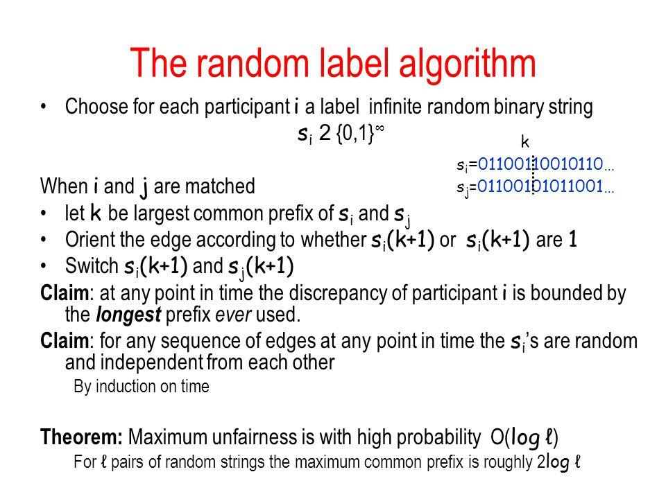 The random label algorithm