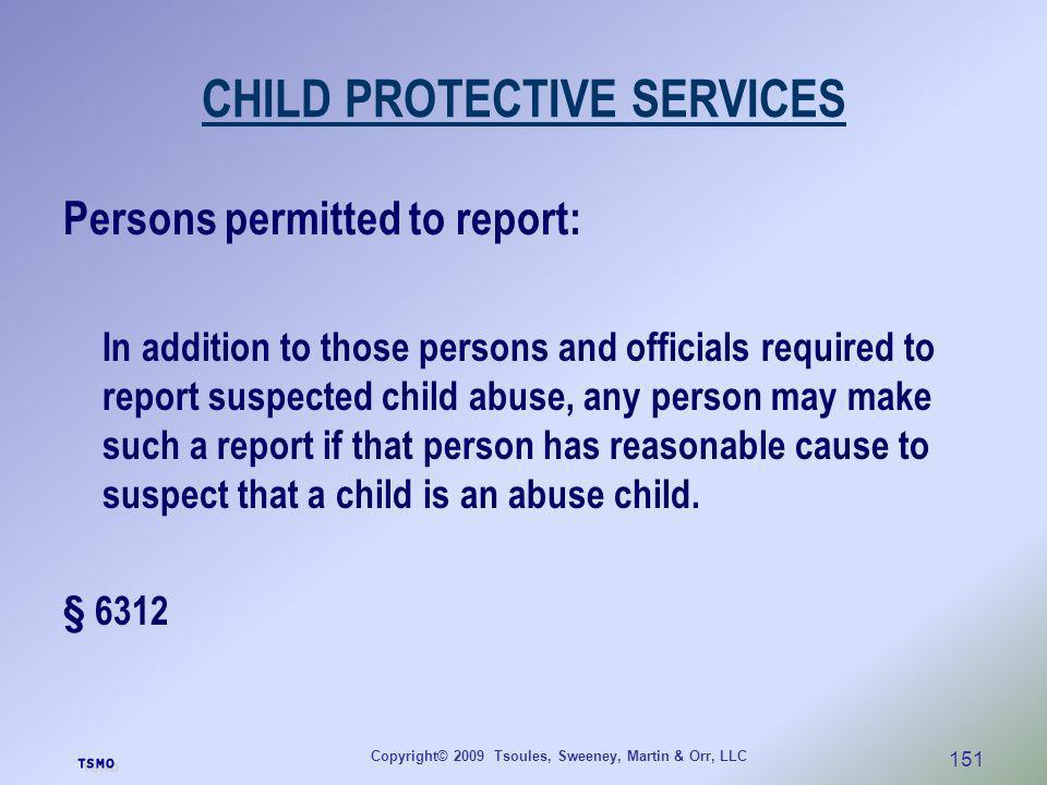 CHILD PROTECTIVE SERVICES